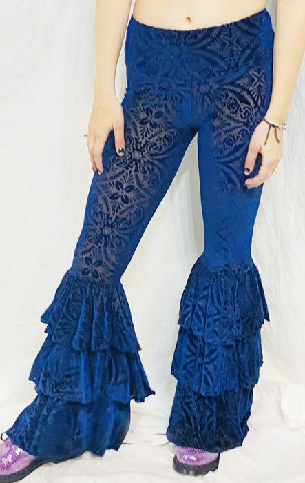 Warrior Within - Ocean Burnout Velvet Pirate Pants Bell Bottoms