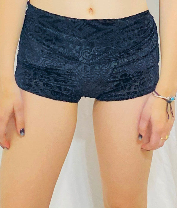 Warrior Within - Midnight Burnout Velvet Cowgirl Shorts