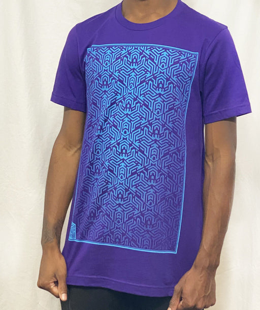 First Earth - Labyrinth (Purple/Aqua) T-SHIRT