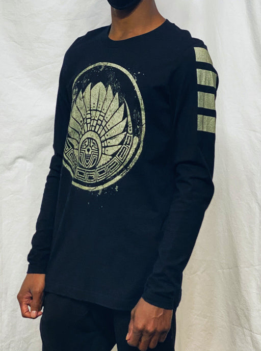 First Earth - Mayan Crop Circle (Gold) Long Sleeve T-SHIRT