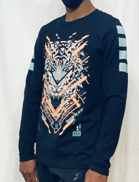 First Earth - Glitch Tiger Long Sleeve T-SHIRT