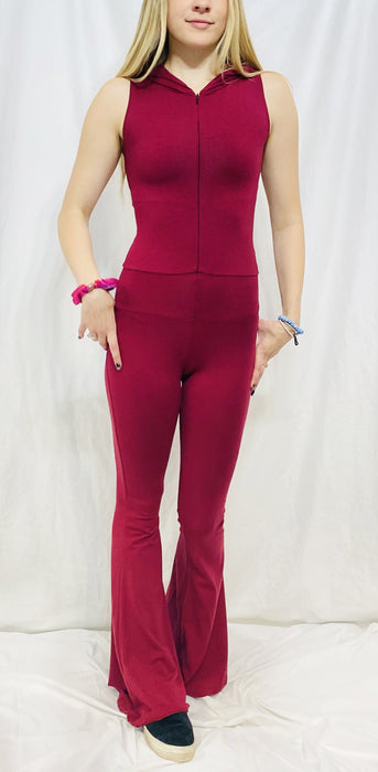 Warrior Within - Maroon Firebird Slim Bell Onesie