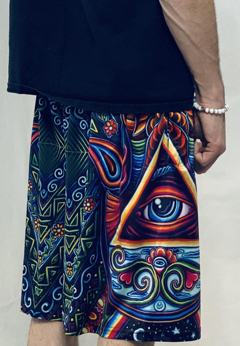 Limited Edition of 111 - John Speaker - Hamsa Hand - Gym Shorts