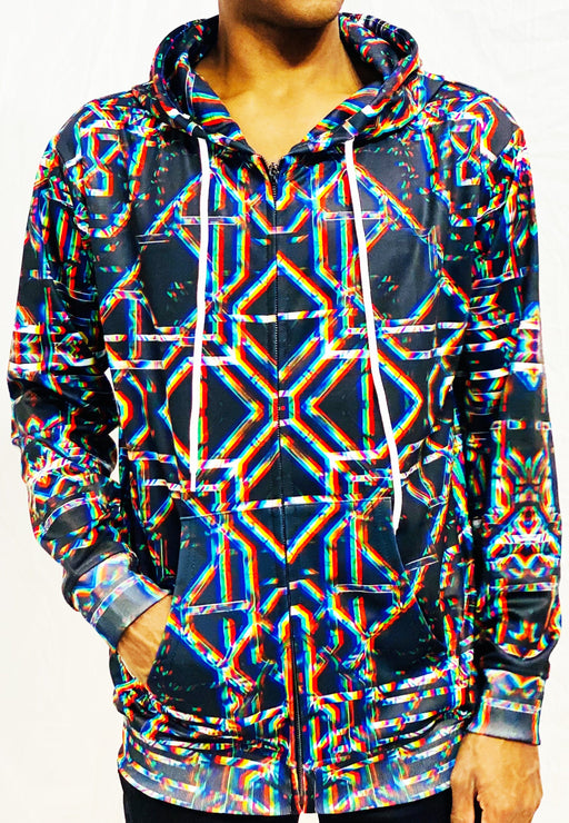 "Daniel W. Prust - ""Rainbow Grid"" Zip Up Hoodie - Limited Edition of 111"