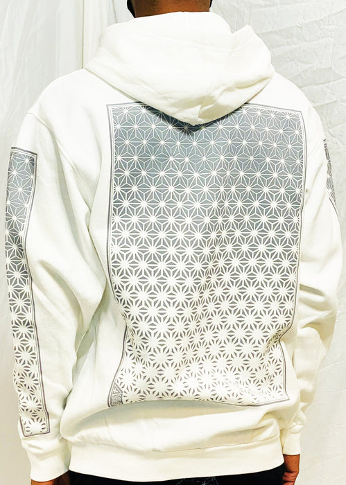 First Earth - Asanoha Hoodie - White
