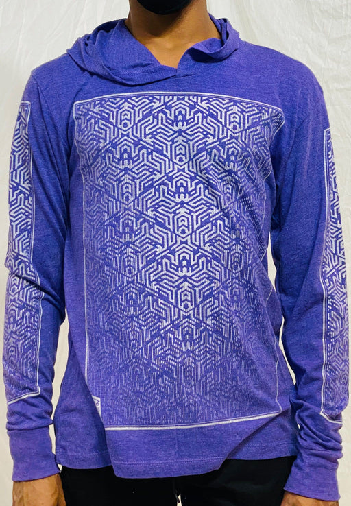 First Earth - Labyrinth - Light Weight Pullover - Purple