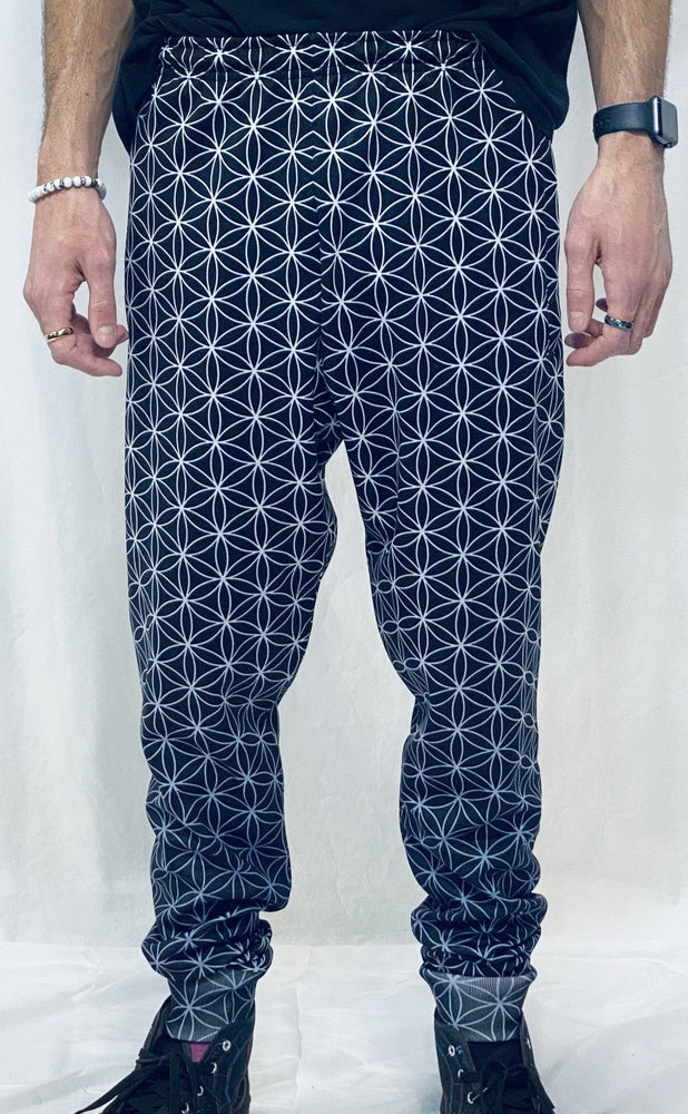 Flower of Life Joggers (with pocket zippers)
