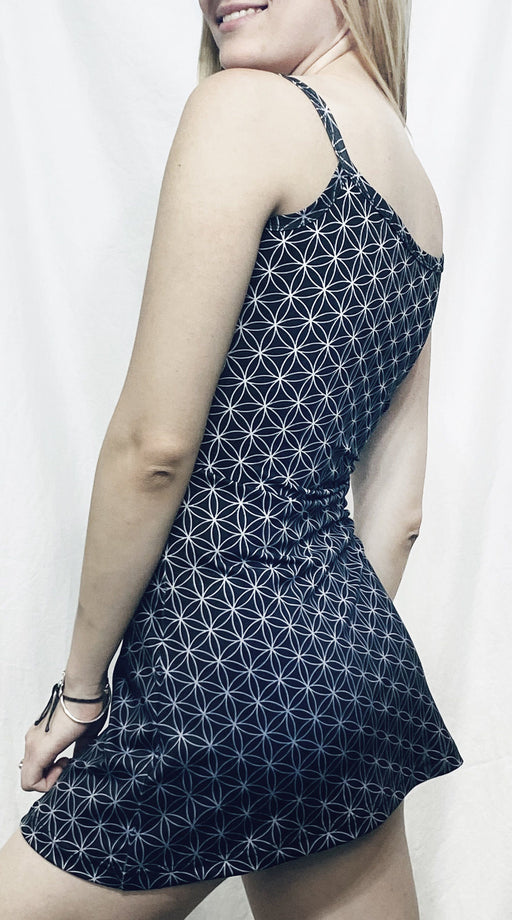 Flower of Life Backless Dress