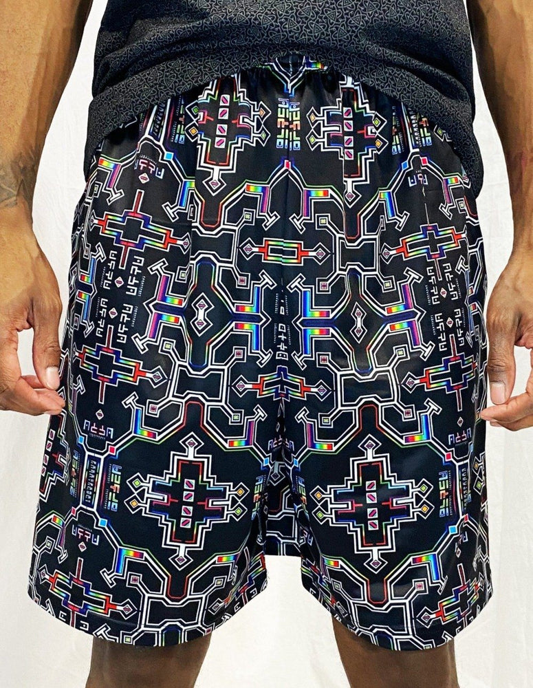 Hakan Hisim - Prismatic Grid - Gym Shorts - Limited Edition of 111