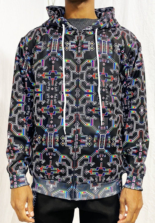Hakan Hisim - Prismatic Grid - Zip Up Hoodie - Limited Edition of 33