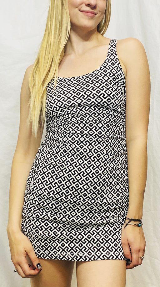 Onanya - Black & White Amazonia Ixora Dress