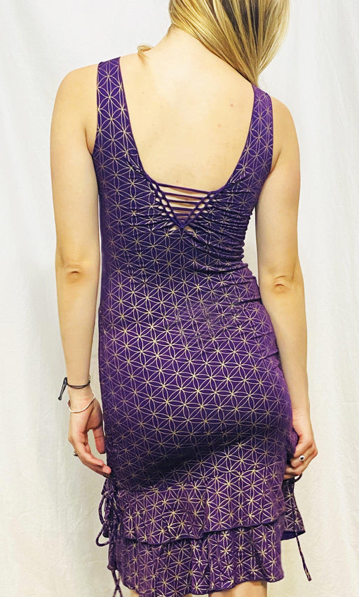 Onanya - Purple & Gold FOL Kira Dress