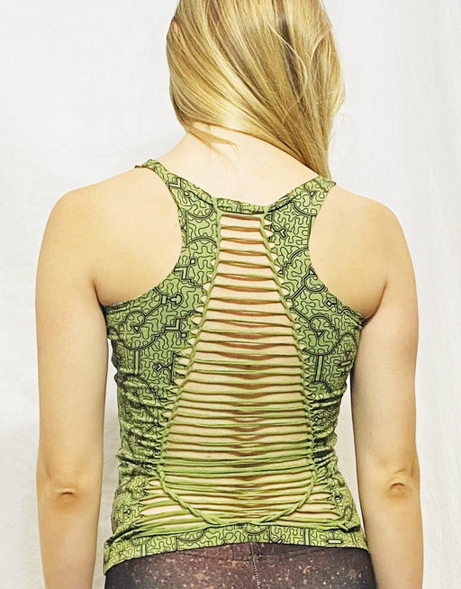 Onanya - Green Shipibo Braided Tank Top