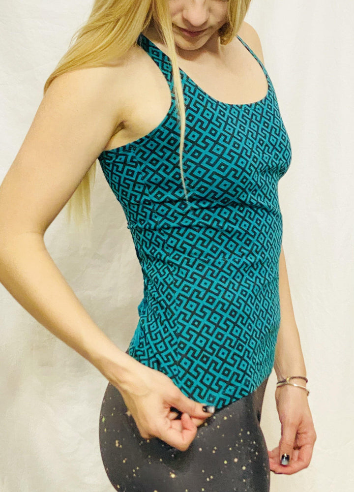 Onanya - Jade & Black Braided Tank Top