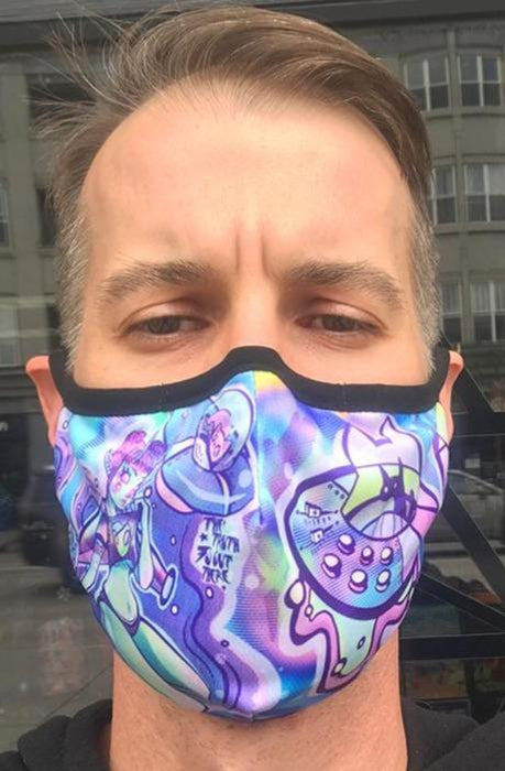 Sublimation Face Mask w/ Invisible Nose Clip & Filter - The Truth Is Out There - Stacy Pants.