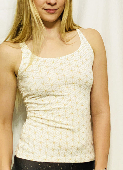Onanya - White & Gold Braided Tank Top