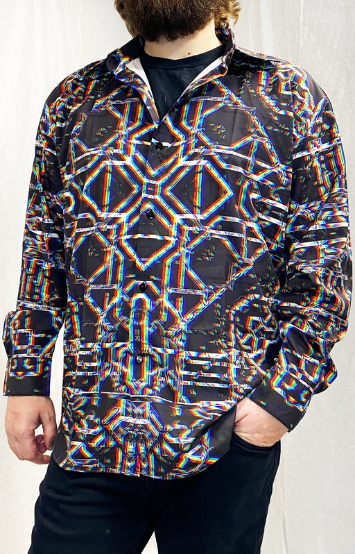 "Daniel W. Prust - ""Rainbow Grid"" - Sublimation LS Button Up"