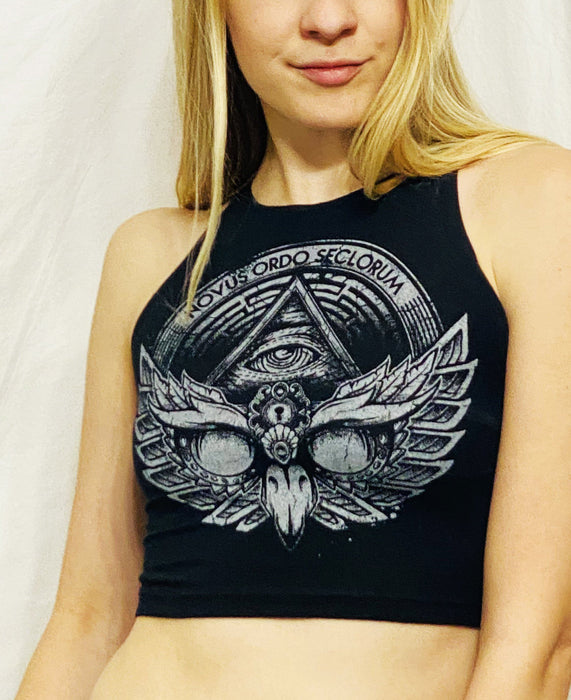 First Earth - Owl Emblem Women's Crop Top