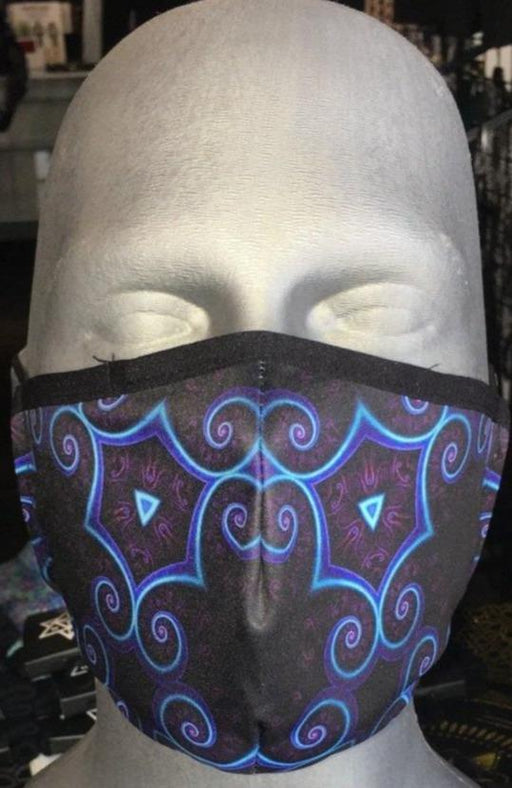"Adjustable Sublimation Face Mask w/ Invisible Nose Clip - Cameron Gray ""Night Session Visions 1"""
