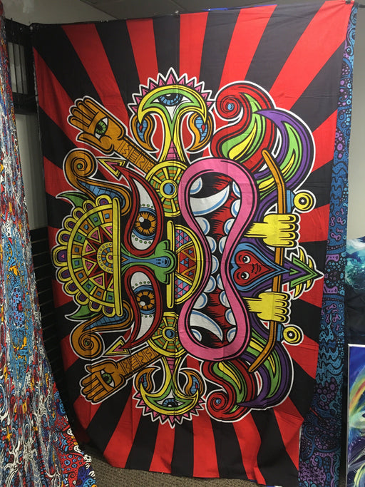 "Sunshine Joy - ""Tribal Face"" - 60' X 90' TAPESTRY"