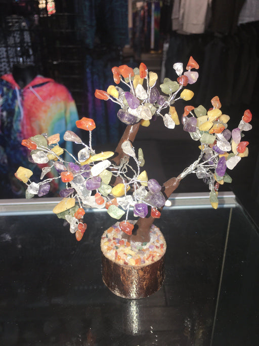 Decorative Crystal Tumbled Gem Tree - Wire Wrapped