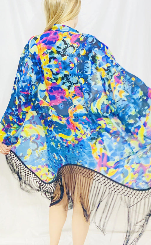 Warrior Within - Sea Visions Liquid Light Kimono