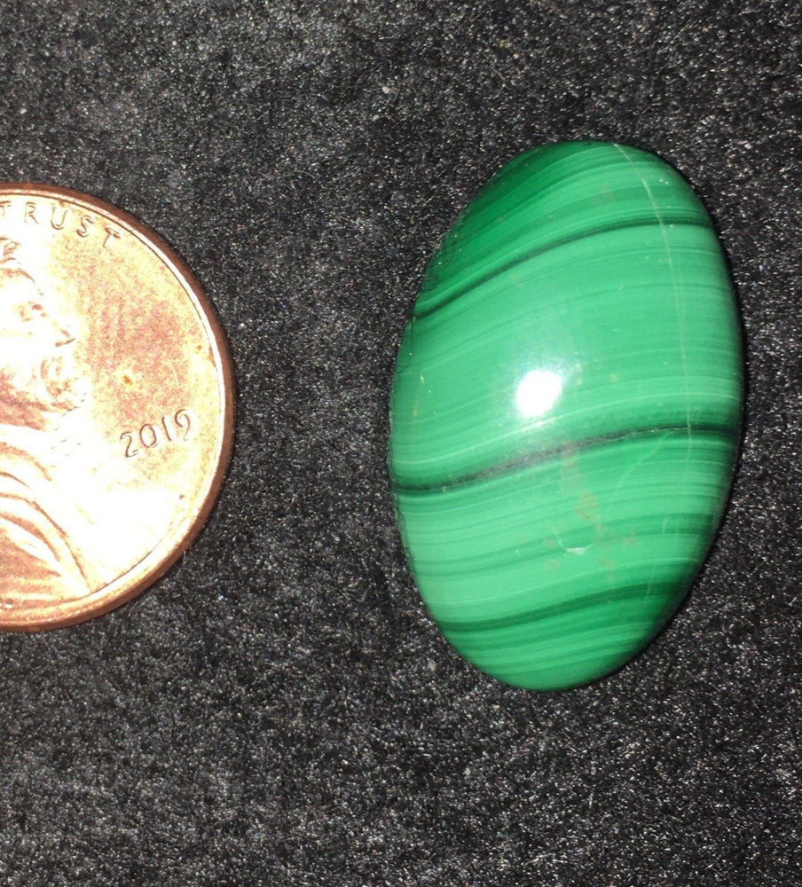 Malachite Cab - For Jewelry & Wraps - This Row Five - Possibly Smooth Malachite