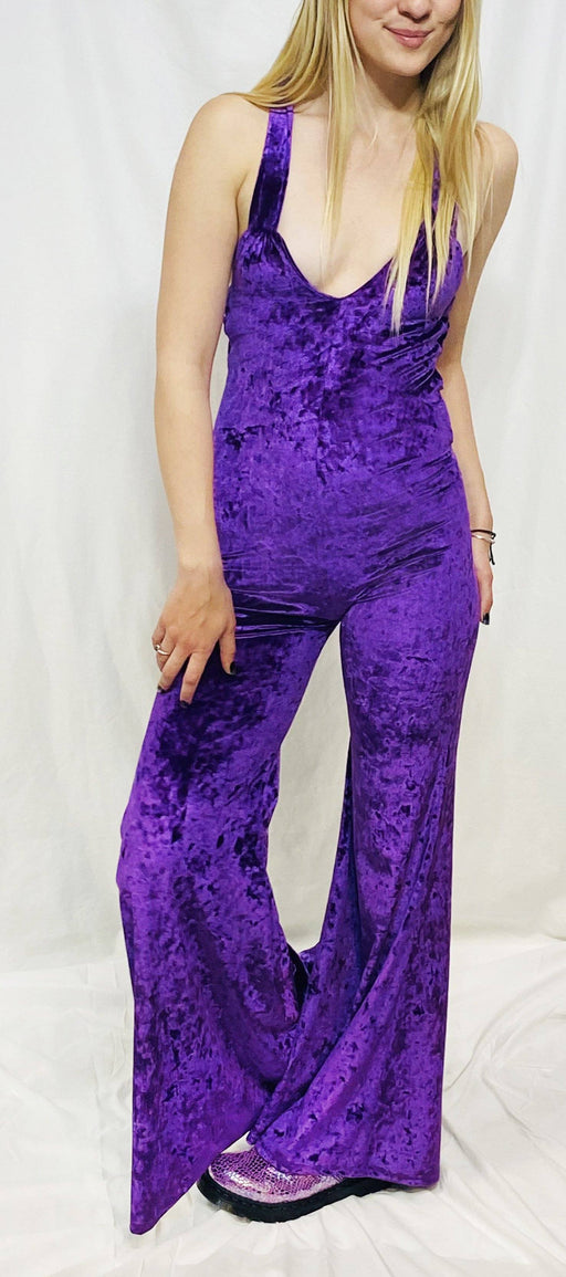 Warrior Within - Royal Purple Crush Velvet Onesie