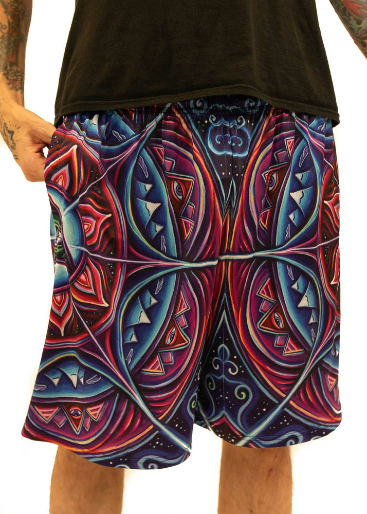NEW Fabric! Limited Edition of 111 - John Speaker - In Bloom - Gym Shorts