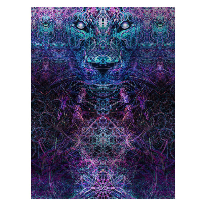 "Solstice Son - ""Jaguar"" 60""x80"" Fleece Blanket"
