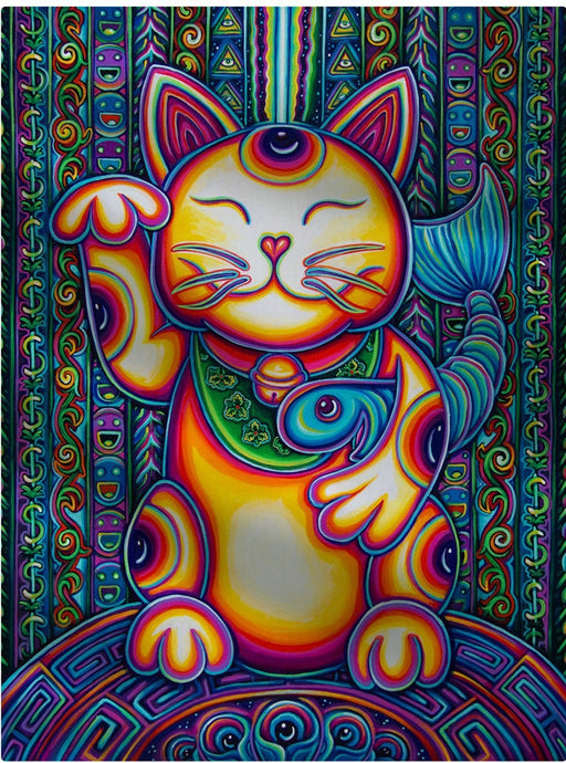 "John Speaker - ""Lucky Cat"" 60""x80"" Fleece Blanket"