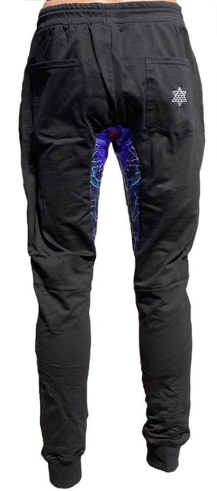 "Cameron Gray ""Mandala Love"" 2.0 Menkaure - Black Embroidered Joggers"