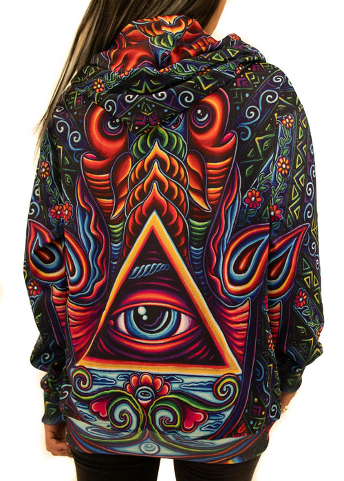 Limited Edition of 33 - John Speaker - Hamsa Hand - Zip Up Hoodie