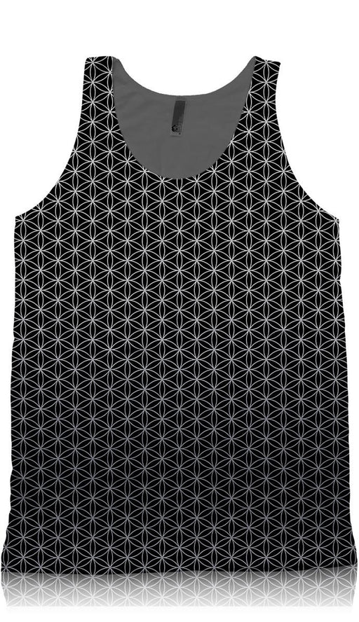 Flower of Life Black and Silver Tank Top