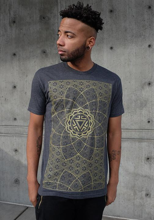 Rythmatix - VITALITY (GRAY/GOLD INK) T-SHIRT