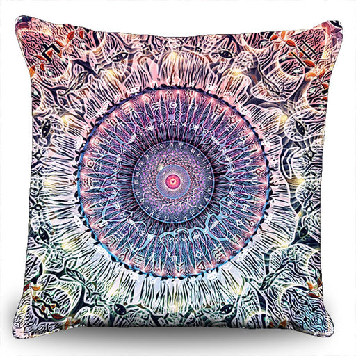 "Cameron Gray - ""Waiting Bliss"" Couch Pillow (16""x16"")"