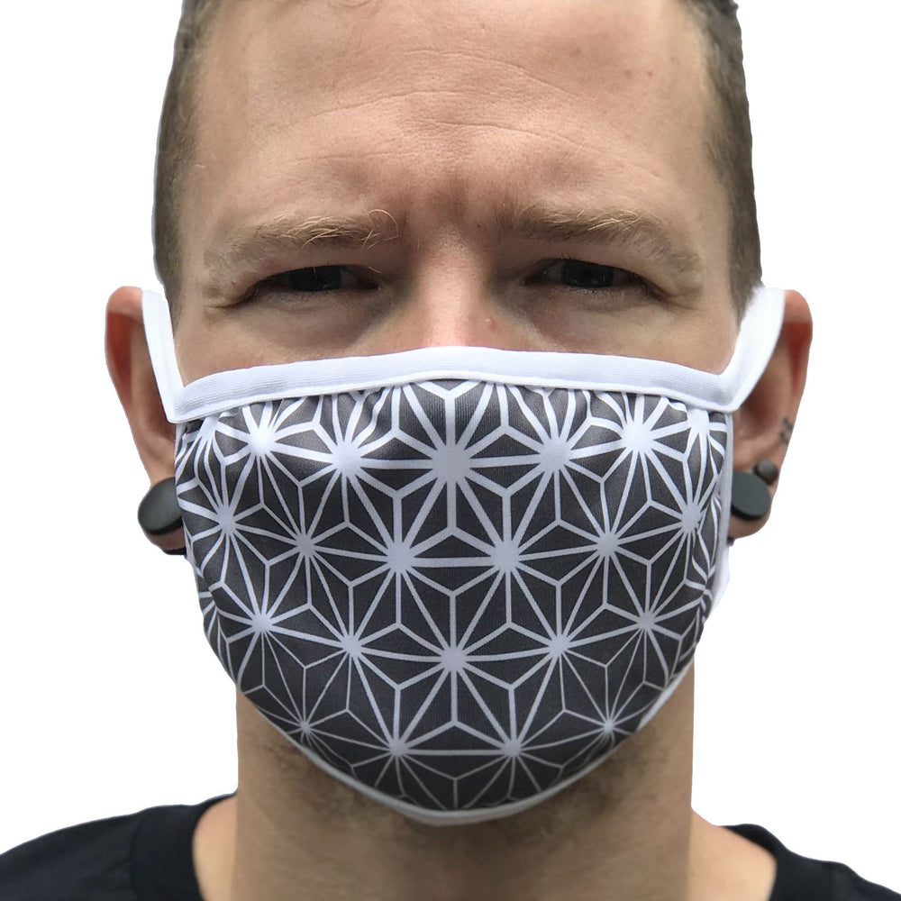 Asanoha - White Sublimation Face Mask