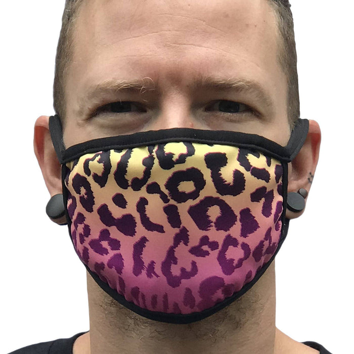 Space Cheetah Sublimation Face Mask