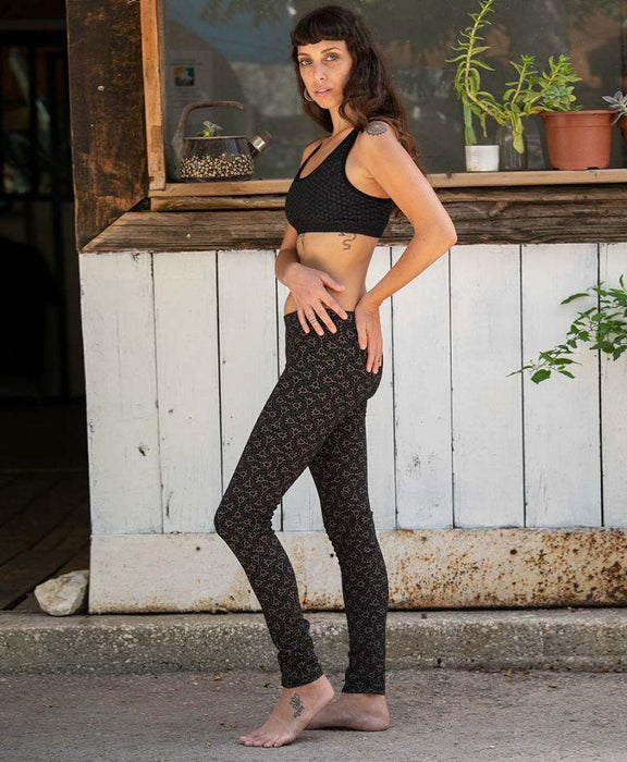 Seed of Life - Hamsa Leggings - Black