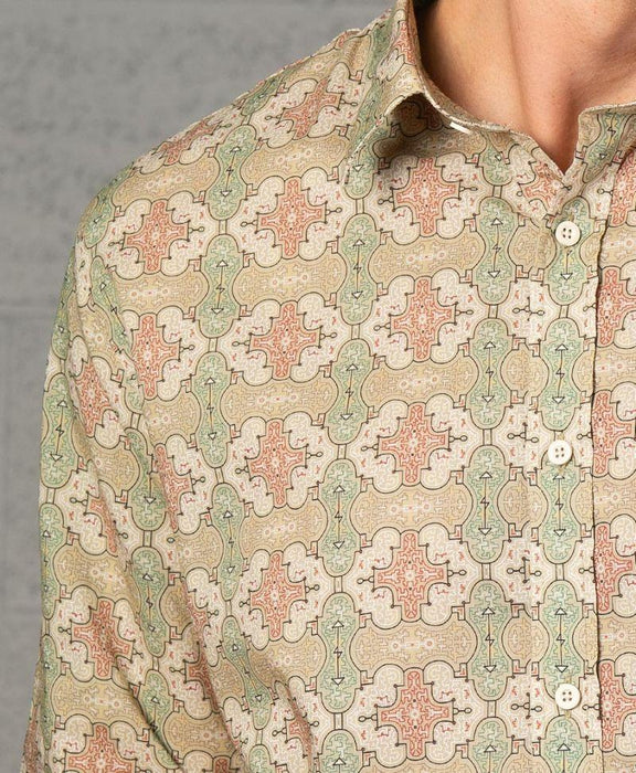 "Seed of Life - ""Shipibo Kené"" LS Premium Button Up"
