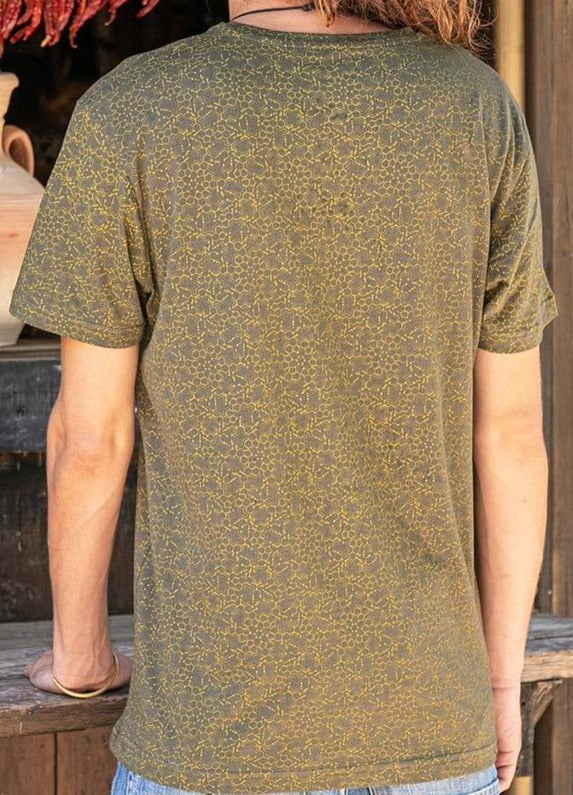 Seed of Life - LSD Molecule T-shirt ➟ Olive