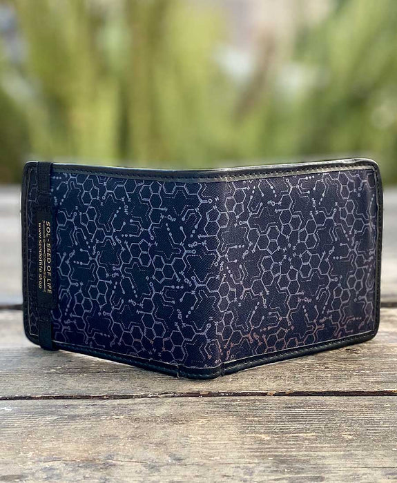 Seed of Life - LSD Molecule Wallet (Black/Blue-Green)