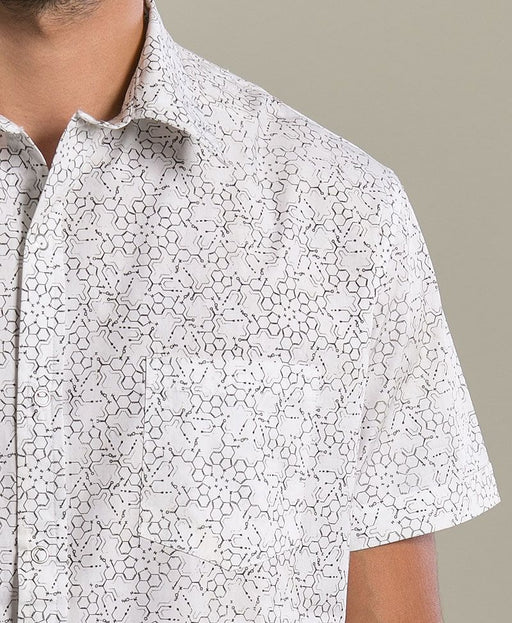 "Seed of Life - ""LSD"" SS Button Up - White"
