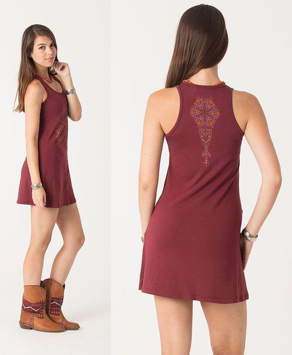 Seed of Life - Mexica Dress - Red