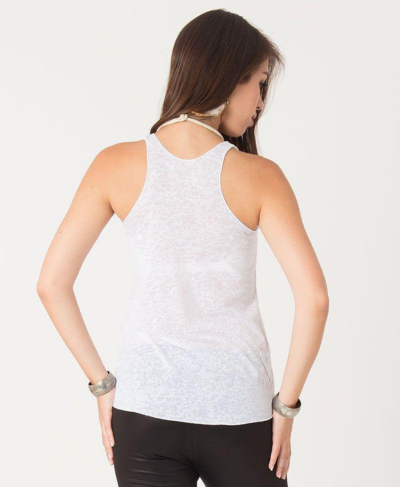 Seed of Life - Anahata Burnout Top - White