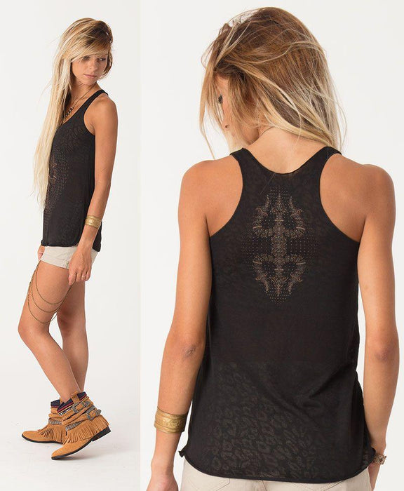 Seed of Life - Trishula Burnout Top - Black