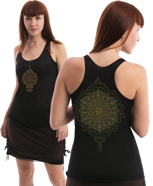 Seed of Life - Peyote Burnout Top - Black