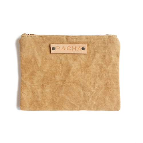 Large Waxed Canvas Field Pouch - Dandelion