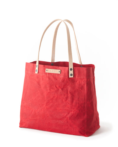 Waxed Canvas MERIDIAN TOTE Red