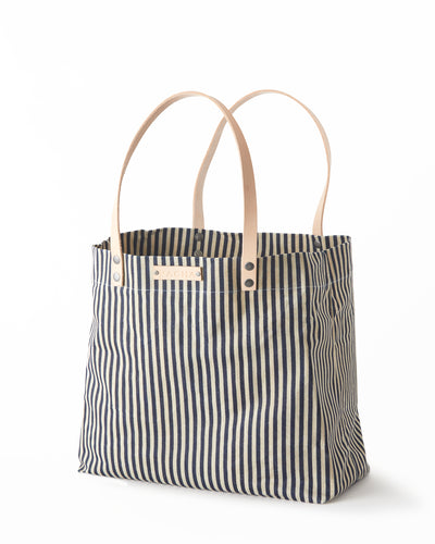 Meridian Tote - Striped Blue